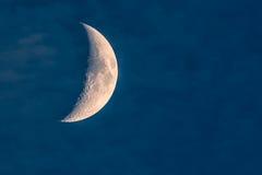 给新月形月亮打蜡 免版税库存照片