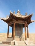 新月形月亮春天,敦煌,甘肃,中国 图库摄影