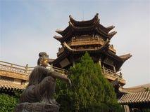 新月形月亮春天,敦煌,甘肃,中国 免版税库存照片