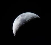 新月形月亮特写镜头 免版税库存照片