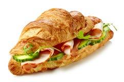 新月形面包三明治用火腿 库存图片