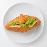 新月形面包三明治 免版税库存照片