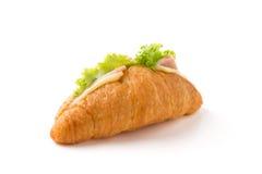 新月形面包三明治 免版税库存图片