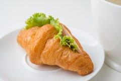 新月形面包三明治 库存照片