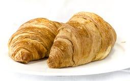 新月形面包avec 免版税库存照片