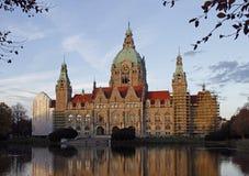 新村城镇厅大厦在德国城市汉诺威 图库摄影