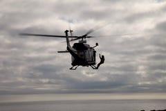 新来的人直升机 免版税图库摄影