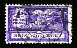 新来的人,波兰议会serie,大约1919年 免版税库存照片