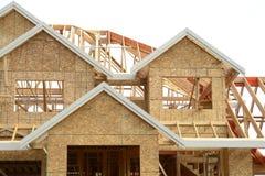 新构成的家庭的房子 免版税库存照片