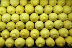 新柠檬关闭 免版税库存图片