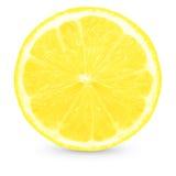 新柠檬片式黄色 免版税库存图片