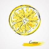 新柠檬片式黄色 免版税库存照片