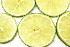 新柠檬片式黄色 库存图片