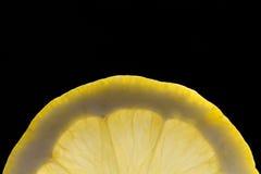 新柠檬片式黄色 免版税图库摄影