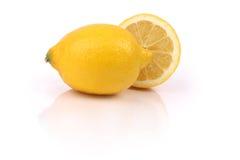 新柠檬片式 库存照片