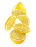 新柠檬白色 免版税图库摄影