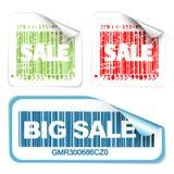 新标签销售额集合白色 免版税库存照片