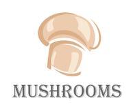 新森林蘑菇标志 库存照片