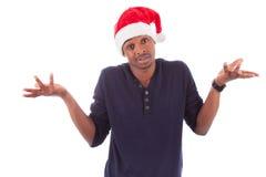 新沮丧的圣诞节人 免版税库存图片