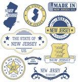 新泽西普通邮票和标志 向量例证