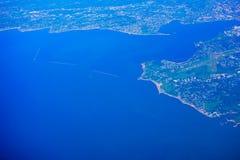 新泽西海滩鸟瞰图  免版税图库摄影
