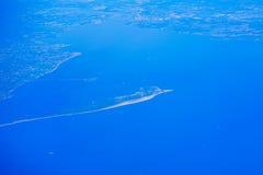新泽西海滩鸟瞰图  免版税库存图片