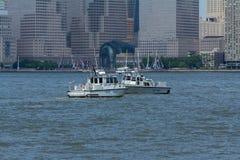 新泽西状态水警艇 图库摄影