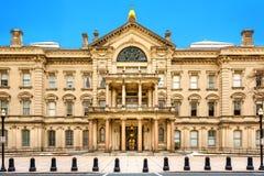 新泽西状态议院在一个晴朗的早晨 库存图片