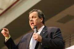 新泽西的总统候选人州长克里斯・克里斯帝 免版税库存图片