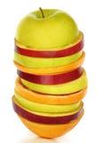 新混杂的切片果子 免版税库存照片