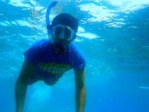 新潜水员 免版税库存照片