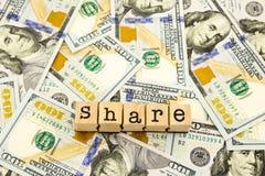 新版100美元钞票、金钱份额的和捐赠c 库存图片