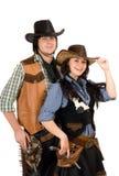 新牛仔和女牛仔。 查出 库存照片