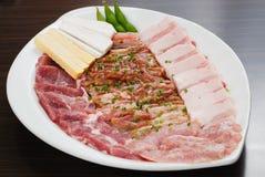 新牛肉切片 免版税库存照片