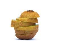 新猕猴桃片式 免版税图库摄影