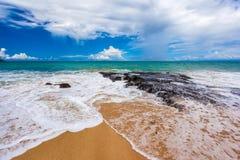 新理想国的海滩,南库塔,巴厘岛,印度尼西亚 免版税库存图片