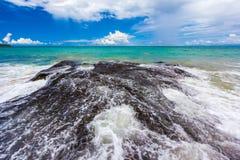新理想国的海滩,南库塔,巴厘岛,印度尼西亚 免版税库存照片