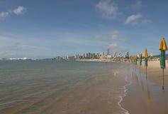 新生中间的海滩-都市海滩-,巴西 库存照片