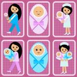 新生儿妇女 库存图片