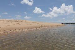 新生南的海岸线-, RN,巴西 库存照片