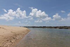 新生南的海岸线-, RN,巴西 免版税图库摄影