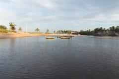 新生南的海岸线-, RN,巴西 库存图片