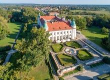 新生城堡在Baranow,波兰 免版税图库摄影