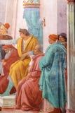 新生壁画在Brancacci教堂里在圣诞老人教会里  库存照片