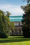 新生女王安娜的夏天愚蠢在皇家庭院Prag里 免版税库存图片