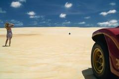 新生巴西的沙丘 库存图片
