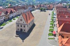新生市政厅在Bardejov,斯洛伐克 图库摄影