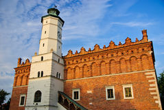 新生市政厅在Sandomierz,波兰 免版税库存图片