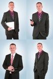 新生意人不同的姿势 免版税库存图片