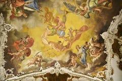 新生样式天花板在东方艺术博物馆在罗马意大利 免版税库存图片